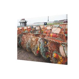 Victoria, Prince Edward Island. Crab pots Canvas Print