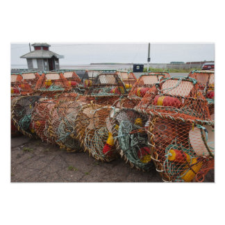 Victoria, Prince Edward Island. Crab pots Poster