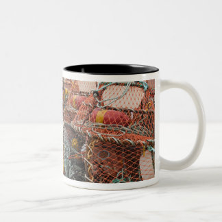 Victoria, Prince Edward Island. Crab pots Two-Tone Coffee Mug