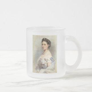 Victoria, Princess Royal Frosted Glass Coffee Mug