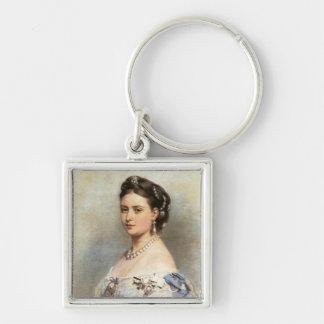 Victoria, Princess Royal Silver-Colored Square Keychain