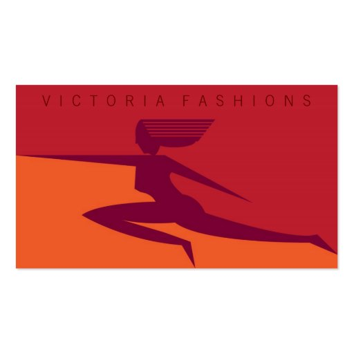 Victoria-Red Double-Sided Standard Business Cards (Pack Of 100)
