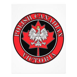 """Victoria Round Polish Canadian Leaf 8.5"""" X 11"""" Flyer"""
