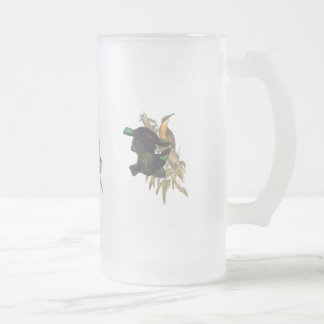 Victoria's Riflebird Frosted Glass Beer Mug
