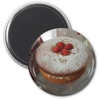 Victoria Sponge Cake 2 Inch Round Magnet