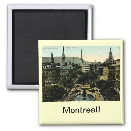 Victoria Square, Montreal Vintage 2 Inch Square Magnet