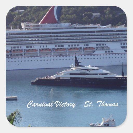 Victoria St Thomas del carnaval Pegatina Cuadrada