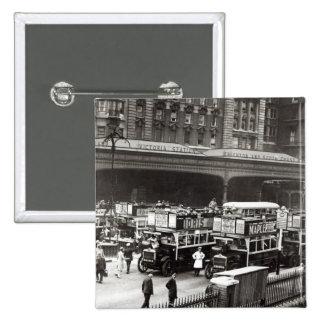 Victoria Station, 1920s 2 Inch Square Button