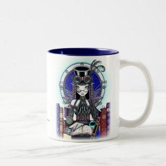 """""""Victoria"""" Steam Punk Faerie Art Mug"""