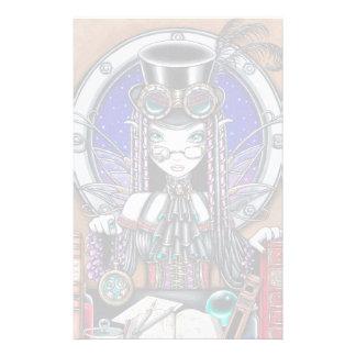 """Victoria"" Steam Punk Faerie Art Stationery"