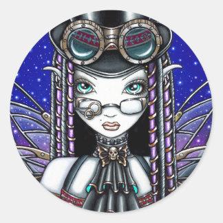 """Victoria"" Steam Punk Faerie Art Stickers"