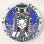 """Victoria"" Steam Punk Fairy Sandstone Coaster"