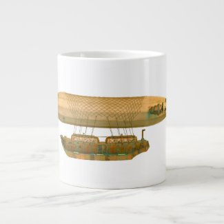 Victoria Steampunk Zeppelin Airship Large Coffee Mug