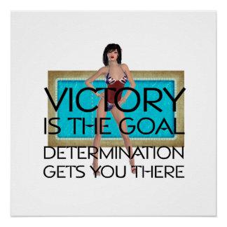 Victoria SUPERIOR de la raza de la nadada Perfect Poster