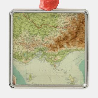Victoria & Tasmania Metal Ornament