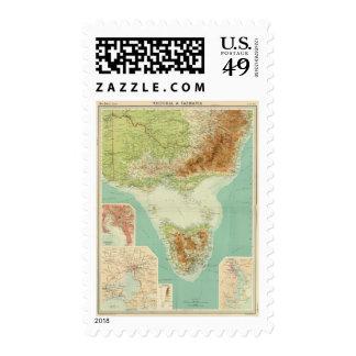 Victoria Tasmania Postage Stamp