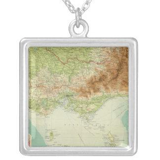 Victoria & Tasmania Silver Plated Necklace