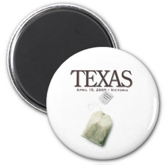 Victoria Texas Tea Party 2 Inch Round Magnet