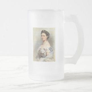 Victoria, The Princess Royal Frosted Glass Beer Mug