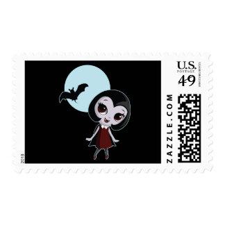 Victoria the Vampire Postage Stamp