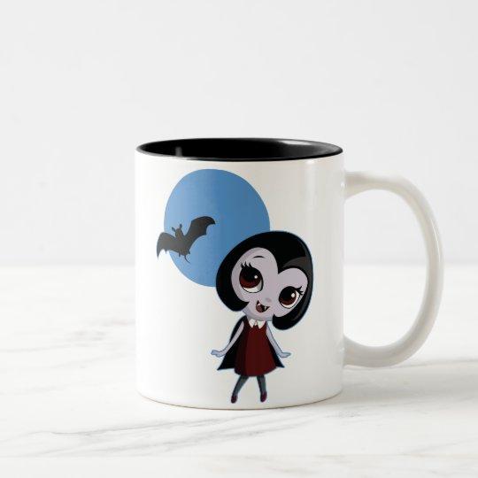 Victoria the Vampire Two-Tone Coffee Mug