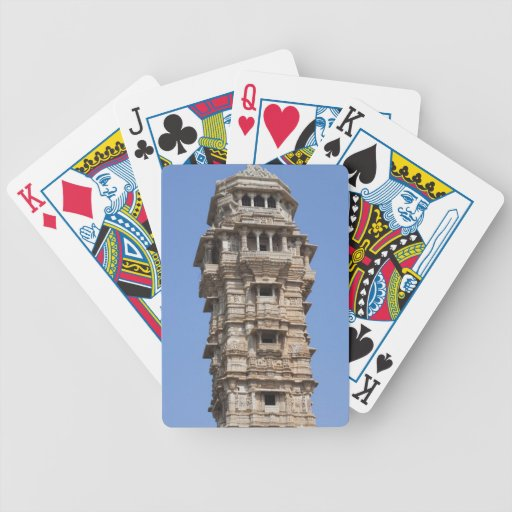 Victoria Tower in Chittorgarh Fort, India Bicycle Playing Cards