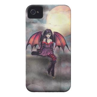Victoria Vampire Fairy with Cat Halloween Art Blackberry Bold Cover