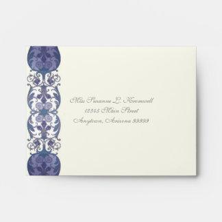 Victoria Wedding Invitation Matching RSVP Envelope