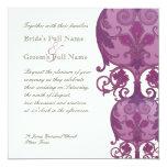 Victoria Wedding Invitation - Plum Purple
