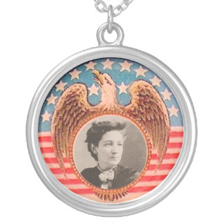 Victoria Woodhull Round Pendant Necklace