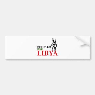 Victoria y libertad para Libia Pegatina Para Auto
