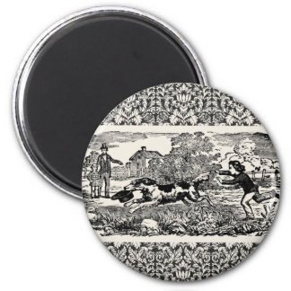 Victorian 1800s book illustration pet print magnet