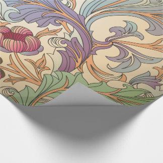 Victorian -1 floral - papel de embalaje papel de regalo