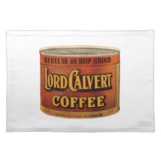 Victorian Advertising Piece - Lord Calvert Coffee Placemat