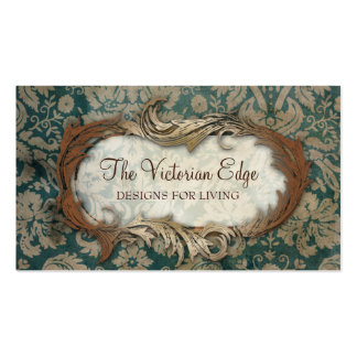 Victorian Aesthetic Damask Business Card