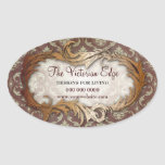Victorian Aesthetic Damask Promotional Stickers