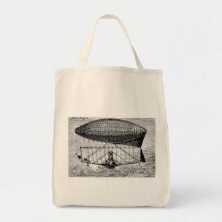 Victorian Airship Dirigible Blimp Tote Bags