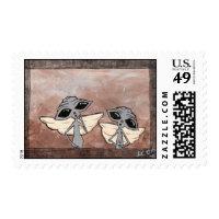 Victorian Aliens Postage Stamp