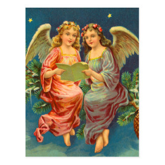 Victorian Angel Christmas Postcards
