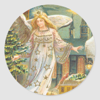 Victorian Angel Christmas sticker