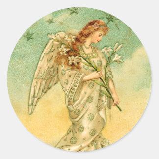 Victorian Angel Christmas sticker