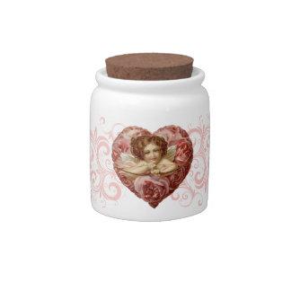 Victorian Angel Heart Candy Jar