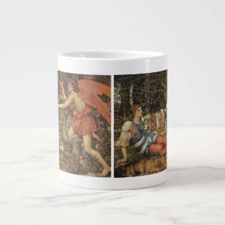 Victorian Angel, Love and the Maiden by Stanhope Large Coffee Mug