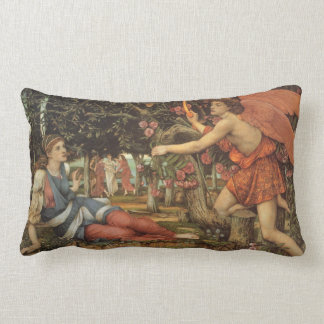 Victorian Angel, Love and the Maiden by Stanhope Lumbar Pillow