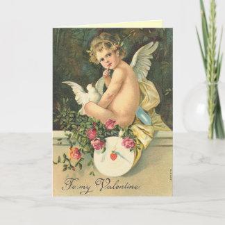 Victorian Angel Valentine's Day Card