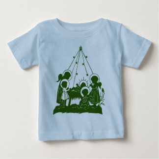 Victorian angels and Jesus silhouettes Baby T-Shirt
