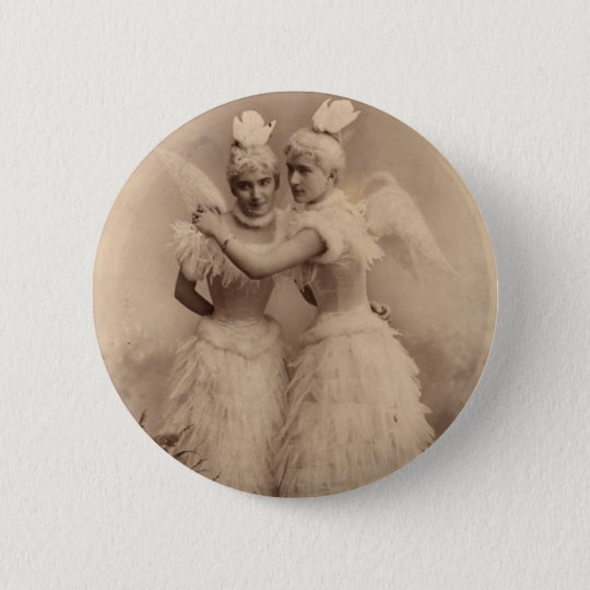 Victorian Angels Pinback Button