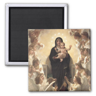 Victorian Angels, Regina Angelorum by Bouguereau 2 Inch Square Magnet