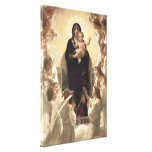 Victorian Angels, Regina Angelorum by Bouguereau Canvas Print