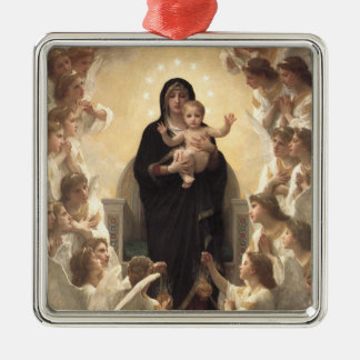 Victorian Angels, Regina Angelorum by Bouguereau Metal Ornament